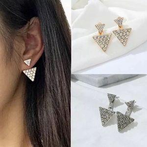 Silver or Gold Ear Jacket Earrings